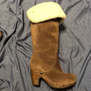 UGG Suede Brown,cuffable kneehigh  boots size 8